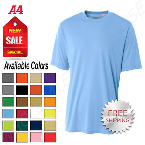 NEW A4 Men's Dri Fit Workout Running Cooling Performance T Shirt M N3142 $9.57