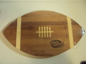 Football Shaped Wooden Cutting Board Dr. Pepper Up Game Day
