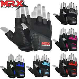 Weight Lifting Gloves Gym Fitness Bodybuilding Workout Leather Glove mens womens $11.99