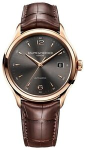 NEW BAUME AND MERCIER CLIFTON 10059 M0A10059 M0A10059 18KT RED GOLD 39MM