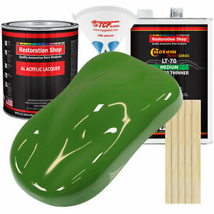 Deere Green Gallon Kit Single Stage ACRYLIC LACQUER Car Auto Paint Kit