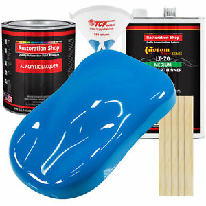 Coastal Highway Blue Gallon Kit Single Stage ACRYLIC LACQUER Car Auto Paint Kit