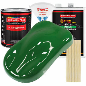 Emerald Green Gallon Kit Single Stage ACRYLIC LACQUER Car Auto Paint Kit