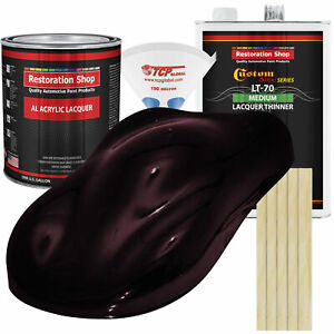 Molten Red Metallic Gallon Kit Single Stage ACRYLIC LACQUER Car Auto Paint Kit