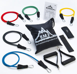 Exercise Resistance Band Door Anchor Ankle Strap Exercise Chart Carrying Case