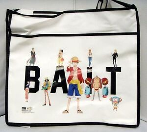 $30  Anime One Piece Ruffy Tony Chopper x BAIT Group Tote Bag (white)