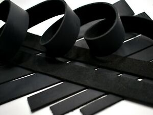 SECONDS: ONE Black Cowhide Leather Med Wgt Strip Strap 1 4quot; 3quot; x 12quot; 108quot; XBO