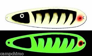 MOONSHINE LURES GLOW IN THE DARK MAGNUM 5quot; TROLLING SPOON SAND BURR