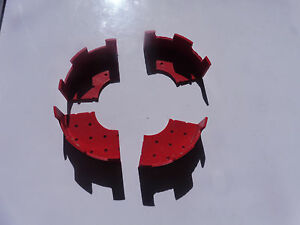 bayko plimpton 4 red curved turrets part no