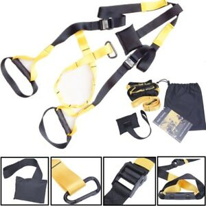 UPGRADED Home Gym Suspension Resistance Strength Training Straps Workout Trainer $31.02