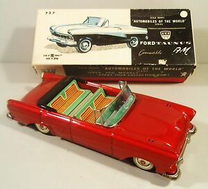 tin friction 1957 ford taunus convertible car w