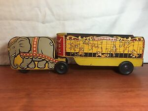 1950 tin litho a walt reach toy by circus parade u