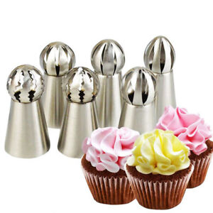 Sphere Ball Tip Nozzles Icing Piping Russian Nozzle Cake Buttercream Baking CA C $1.21