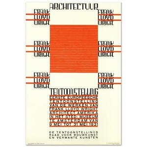 quot;Architectuur F.L. Wrightquot; Hand Pulled Lithograph by the RE Society $89.00