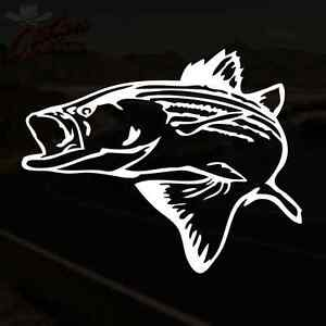 Striped Bass Decal Striper Fish Fishing Truck sticker *PICK YOUR SIZE amp; COLOR*