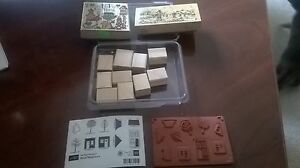 Stampin' Up Good Neighbors Clear Mount Set Of 10 Stamp Set Never Used Extras(C)