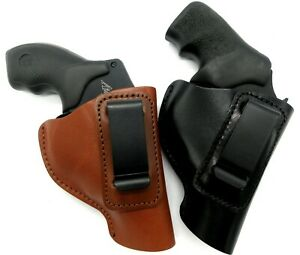 Right Hand Leather Inside Pants Holster for SMALL REVOLVER Choose GunColor $26.00