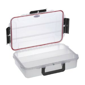 Waterproof Clear Tackle Box With Pressure Equalization Valve EL016CT Stowaway