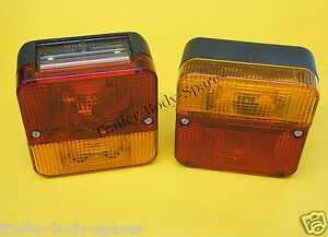 FREE UK Post 2 x Perei Rear 4 Function Small Trailer Lamp Light #TR