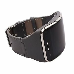 Samsung Gear S SM-R750 Leather with Silicone Band Replacement Bracelet Wristband