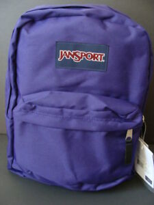 NWT JANSPORT SuperBreak Purple Backpack Book Bag School Sack Girls Padded NEW $25.49