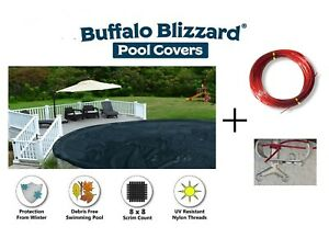 Buffalo Blizzard 24#x27; Round Deluxe Swimming Pool Winter Cover 10 Year Warranty
