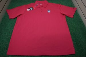 NEW Under Armour Polo Men's LARGE Golf Club at Newcastle Red