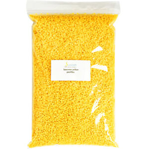 YELLOW BEESWAX BEES WAX PASTILLES PREMIUM 100% PURE ORGANIC 4 OZ TO 25 LBS $14.50