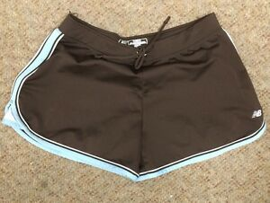 Women New Balance Lightning Dry Running Athletic Workout Exercise Brown Shorts M