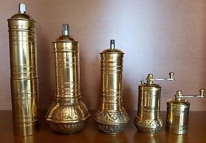 Traditional ACAR Turkish Handmade Coffee Grinder Mill Salt and Pepper Mill