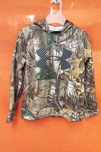 UNDER ARMOUR Storm Skull Mask Hoodie Youth (YSM) #1285122-946 Realtree Xtra