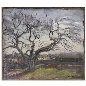 Antique Impressionist Oil Painting by Francois Cachoud French Studied w Moreau
