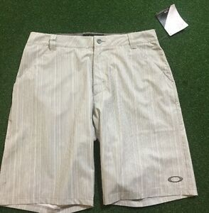 NEW! OAKLEY TURNPIN SHORT GRAY (STRIPED) 34 REGULAR FIT (441726X) $39.99 BIN!