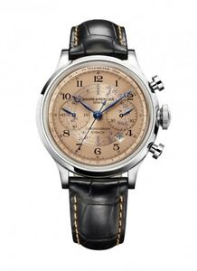 NEW LIMITED EDITION BAUME AND MERCIER CAPELAND FLYBACK CHRONO 10088 COPPER DIAL