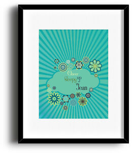 Song Lyric Artwork Music Quote Print Poster Decor - Daydream Believer by Monkees