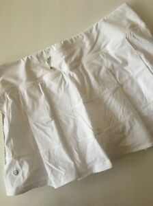 Lululemon Pace Rival Skirt II WHT White Shorts  Size 12 New With Tags