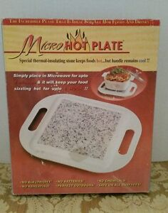 Micro Hot Plate Thermal Stone For Cooking With Handles New In Box Fast Ship