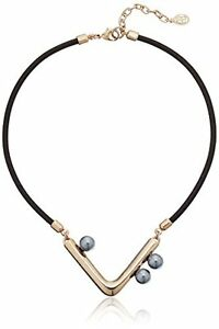 Ben-Amun Jewelry Modern Pearl Leather Simulated Necklace 17