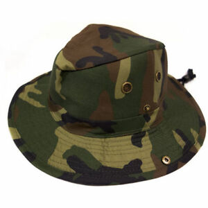 Green Jungle Camouflage SunHat Camouflage Hiking Hunting Outdoor Cap(L 58 cm)