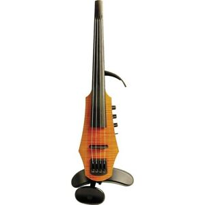 NS Design CR-4 Electric 4-String Violin with Amber Finish - with Case