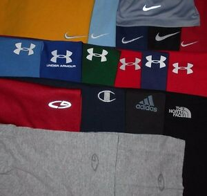Lot 18 Nike Under Armour Adidas North Face & More Mens T-Shirts S Small READ