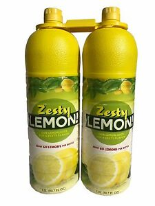 Zesty Lemon 100% Lemon Juice 60 Lemons per Bottle 50.7 fl oz each - 2 Pack