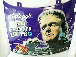 Extremely Rare Universal Monsters Frankenstein Nascar Replica Car Hood Plastic
