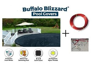 Buffalo Blizzard Deluxe Round amp; Oval Above Ground Swimming Pool Winter Covers