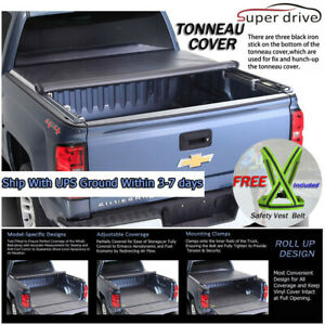 Fits 2007-2019 TUNDRA CREWMAX CAB ROLL UP Tonneau Cover 5.5ft (66in) Short Bed