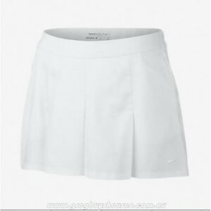 Nike 725759 Women's SZ 10 Golf Shorts Majors Moment Dot Skort Pleated White $90