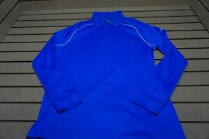 NEW Under Armour Golf Heat Gear Loose Fit LS Polo Mens Size Large  Blue