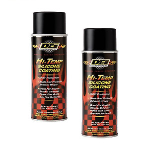 DEI 010302 Set of 2 Aluminum High-Temp Silicone Coating 12 oz. Spray Cans