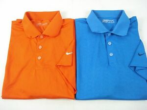 Lot of 2 NIKE GOLF Polo Shirts Dry Fit Assorted Colors sz L 7-86