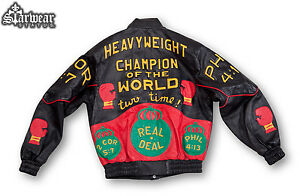 EVANDER HOLYFIELD Owned Heavyweight Champion BOXING Belt Gloves Sport Jacket L